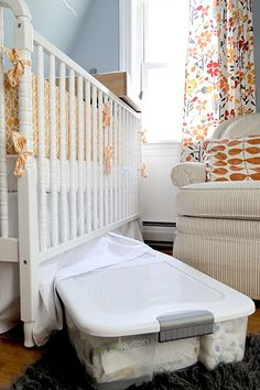 Welcome your new bundle of joy with a nursery that's well-organized and functional. Here are our baby nursery organization ideas that promise that and more! Stocks De Couches, Preparing For Baby, Baby Center, Baby Makes, Nursery Design, Baby Room Decor, Nursery Decor, Baby Size, Girl Nursery