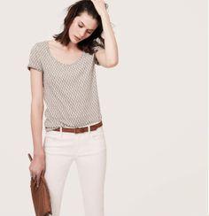 prints & white denim