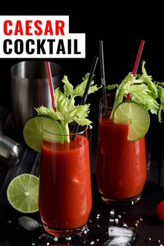 An easy recipe for one of the few things that is solely Canadian, the Caesar drink is similar to a bloody mary but is inspired by Italy. Caesar Drink, Caesar Cocktail, Cocktail Drinks, Cocktail Recipes, Alcoholic Drinks, Beverages, Cocktails, Drink Recipes, Easy Meals For One