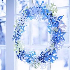 Craft a Wreath from Paper Snowflakes