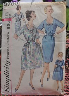 Simplicity 3792  Dress w/ Two Skirts & Detachable by Clutterina