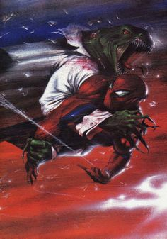 Spider-Man Vs Lizard by Gabriele Dell'Otto via: http://westcoastavengers.tumblr.com/post/69516170633/spider-man-vs-lizard-by-gabriele-dellotto