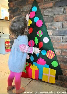 Felt tree for the kids to decorate