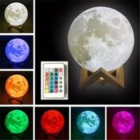 Wish Romantic 3d Usb Led Magical Moon Light Moon Lamp 16 Color Changing Remote Control Night Light Touch Sensor Eaf Led Night Light Night Light Night Lamps