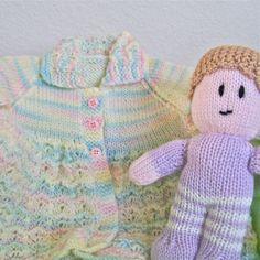 #Baby #jacket #doll #pastel #soft #toy #annesknits #thecraftstar $30.00