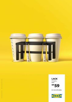 IKEA ad campaign table