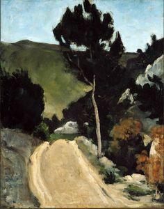 Paul Cézanne, 'Bend in a Road in Provence' on ArtStack #paul-cezanne #art