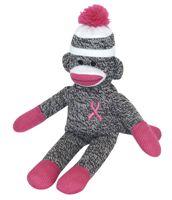 WebMedBooks.com: Pink Ribbon Sock Monkey : 681139020819 : Pink Stuff : Medical Supplies : Accessories : Gift Items $10.00