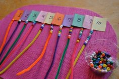 preschool- counting with beads