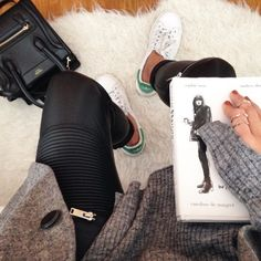 Life style - Inspiration - Book - How to be Parisian - Adidas Stan Smith - Celine bag
