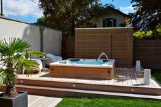 Jacuzzi Outdoor, Outdoor Spa, Outdoor Living, Hot Tub Backyard, Backyard Patio, Timber Stair, Terrasse Design, Ryan Homes, Garden Tub