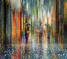 Eduard Gordeev is a talented photographer based in St. Petersburg, Russia who captured a series of artistic photos of rainy cityscape. The resulting images are atmospheric and impressive with a bit of effect of acrylic paintings. The urban streets seem drenched in rain and mystery.