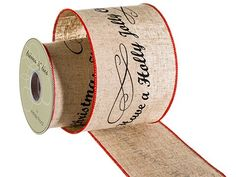 Silk Plants Direct Holiday Linen Ribbon (Pack of 6) * Be sure to check out this awesome product.