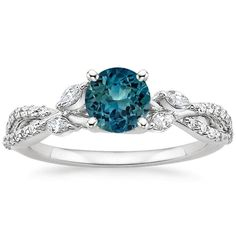 18K White Gold Sapphire Luxe Willow Diamond Ring (1/3 ct. tw.) from Brilliant Earth