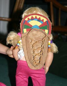 Handmade Cradleboard for Kaya doll ~Several other handmade accessories too, inspiring.