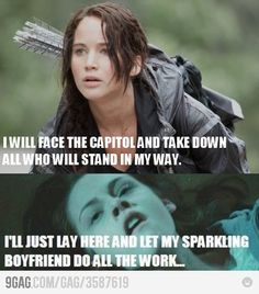 So, I totally wish I was all Katniss style, but in reality I'm totally Bella!