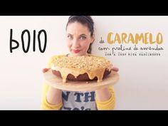 Um bolo com um toque de caramelo com uma cobertura de praliné crocante.     BOLO…