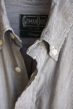 Gitman striped shirt.....Gitman is one of the great American manufacturers and, as you can see, they do stripes, very, very, well...a classic...you can never have too many striped shirts...
