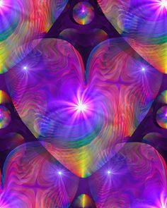Chakra Heart Energy Art Reiki Rainbow Swirl by primalpainter