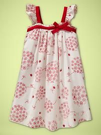 Usually not a fan of red but this little dress for babies under 2 is ADORABLE!