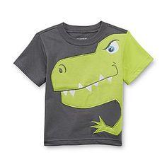 WonderKids- -Infant & Toddler Boy's Applique T-Shirt - Dinosaur