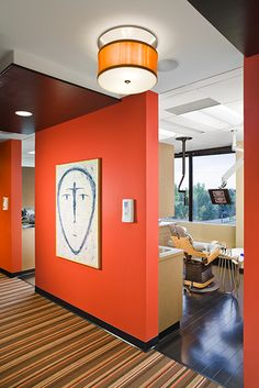 Hall ceiling and lighting  Link Dental - Dental Office Design by JoeArchitect in Englewood, Colorado