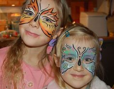 butterfly face paint (one side)