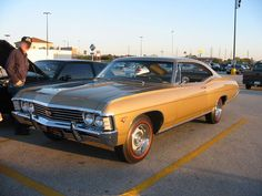 The 1967 Impala came standard with wheels ,But if you ordered Front Disc Brakes, it came with Rally Wheels 1967 Chevy Impala, 67 Impala, General Motors Cars, Pony Car, Super Sport, Amazing Cars, Hot Cars, Motor Car, Muscle Cars