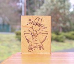 Bunny Rabbit Ballerina Ballet Wood Mounted Rubber Stamp R13 1988 Daisy Kingdom  | eBay