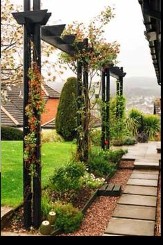 Interesting way to divide space #GreatLandscapingIdeas