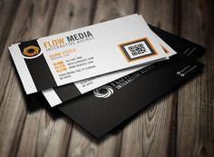 Flow business card psd templates