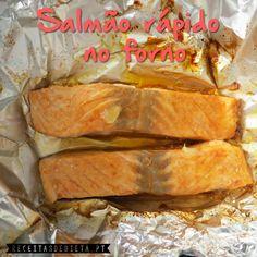 Salmão Rápido no Forno  #receita #dieta #light #regime #fitness #saudável