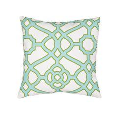 Jaipur Living Veranda VER59 Green Tribal Pillow