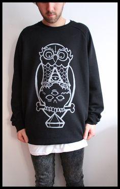 000354681f32 thick owl crew neck  50