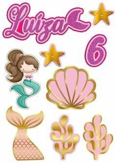 Little Mermaid Cakes, Little Mermaid Parties, The Little Mermaid, Girl 2nd Birthday, Mermaid Birthday, Diy Birthday, Cake Topper Tutorial, Cake Toppers, Snow White Invitations