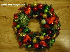 wianek bożonarodzeniowy drumlaart.blogspot.com