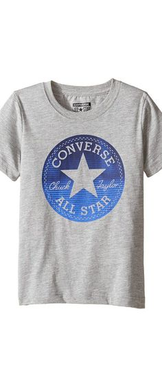 Converse Kids Chuck Fill Tee (Toddler/Little Kids) (Vintage Grey Heather) Boy's T Shirt - Converse Kids, Chuck Fill Tee (Toddler/Little Kids), 864948E-029, Apparel Top Shirt, T Shirt, Top, Apparel, Clothes Clothing, Gift - Outfit Ideas And Street Style 2017
