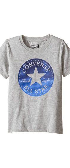 7dbfea857 Converse Kids Chuck Fill Tee (Toddler/Little Kids) (Vintage Grey Heather)