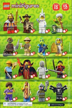 The Minifigure Collector: Lego Minifigure Series 1 Ninjago Movie, Batman Movie Series 1 and Lego Movie, Simpson, Disney, Harry Potter - Checklists and Visual Guides Lego Film, Lego Movie, Minifigura Lego, Pikachu, Lego People, Lego Minifigs, Lego Group, Lego Projects, Legoland