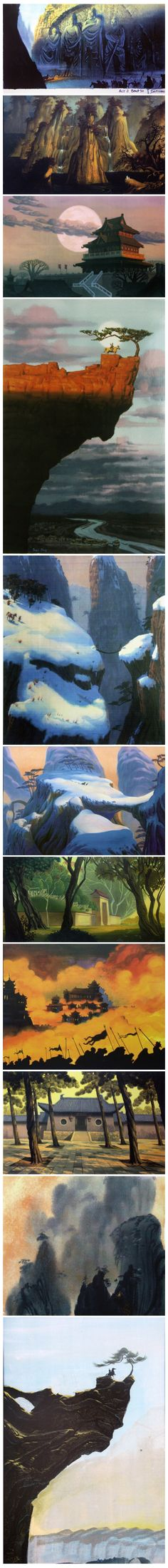 mulan findings 5 -- here is some more visual development artwork for disney's MULAN. it was done sometime early 1994