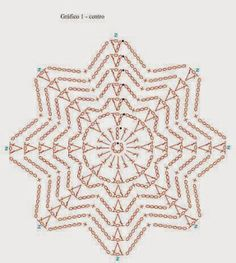 beautiful, beautiful, christmas center in crochet. View and share - Crochet Designs Free Crochet Snowflake Pattern, Crochet Stars, Crochet Circles, Crochet Snowflakes, Crochet Granny, Crochet Motif, Irish Crochet, Crochet Doilies, Crochet Flowers