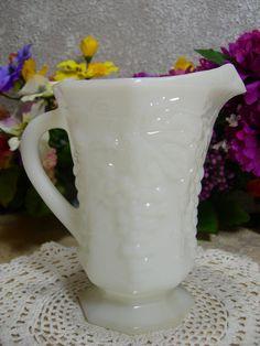Anchor Hocking Milk Glass 16 Ounce Pitcher by MyRetroCharm on Etsy, $11.75