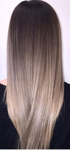 33 trendy ombre hair color ideas of 2019 - Hairstyles Trends Hair Color And Cut, Ombre Hair Color, Hair Color Balayage, Hair Highlights, Ashy Brown Hair Balayage, Sombre Hair, Chunky Highlights, Hair Spa Price, Hair Shades