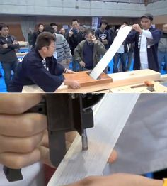 Japanese Wood Planing Competition //