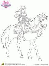 barbie a cheval