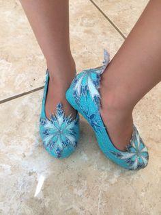 Children's Elsa Shoes Inspired from Disney by SplendidImaginations, $55.00