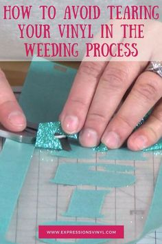 How To Avoid Tearing Your Vinyl In The Weeding Process - Expressions Vinyl Inkscape Tutorials, Cricut Tutorials, Cricut Ideas, Cricut Vinyl Projects, Cricut Explore Projects, Craft Projects, Vinyl Crafts, Cricut Help, Cricut Air