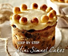 Going to bake these! Easter baking - mini Simnel Cakes with recipe link