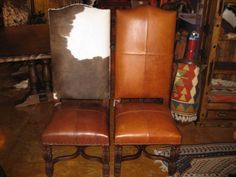 Arte High Back Cow Hide Or Leather Chair From The Rustic Gallery #rustic