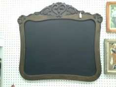 "SOLD - Chalkboard antique oak frame - This chalkboard has a wonderful oak frame. Approximately 33"" wide and 31"" tall. ***** In Booth C3 at Main Street Antique Mall 7260 E Main St (east of Power RD on MAIN STREET) Mesa Az 85207 **** Open 7 days a week 10:00AM-5:30PM **** Call for more information 480 924 1122 **** We Accept cash, debit, VISA, Mastercard, Discover or American Express"